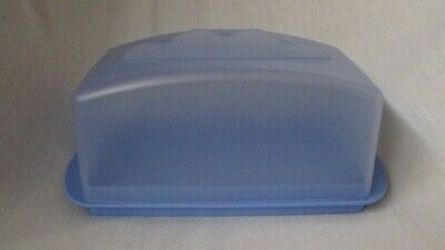 TUPPERWARE Impressions large 1 lb Cheese Butter Keeper blue  #3672