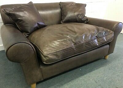 Conran SOFA Leather Two Seater Snuggler Love Seat Elise Vintage late 90s
