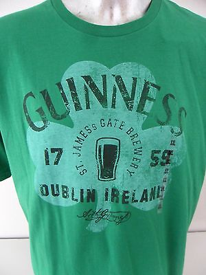 7989ee9b Guinness Beer St James Gate Brewery Dublin Ireland Leaf Clover XXL T Shirt  NWT