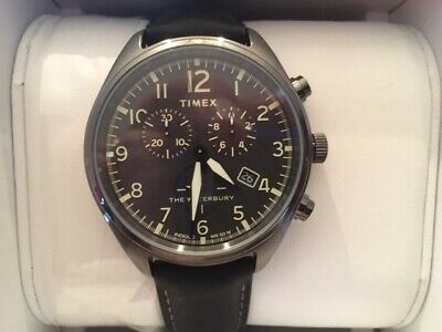 e67912d52 NEW Timex Waterbury Traditional Chrono All Black Leather with box and papers