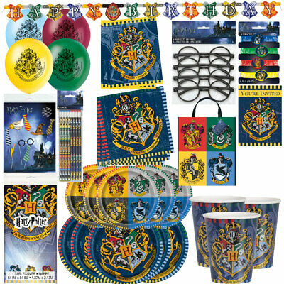 Harry Potter Birthday Party Supplies Decorations Plates Cups Bundle Table Cover