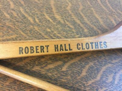 Antique Vintage ROBERT HALL CLOTHES Wooden Clothes Hanger Clothing Advertising