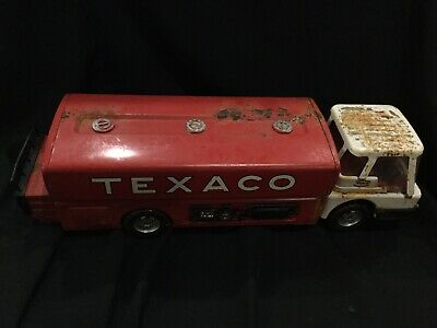 Antique  Texaco Delivery Ride Fuel Gas Truck Toy E1