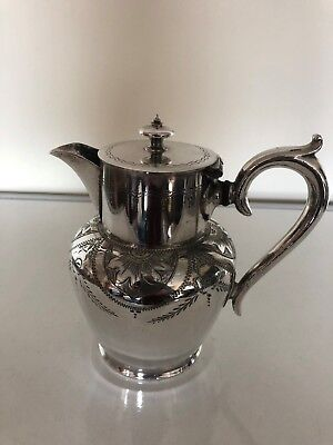 "Lovely Silver Plated Victorian Coffee/Hot Water Pot 6"" Tall (Hwcp700)"