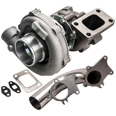 T04E T3/T4 .63 A/R 57 Trim turbo charger and Stainless Steel Downpipe Kit TURBIN