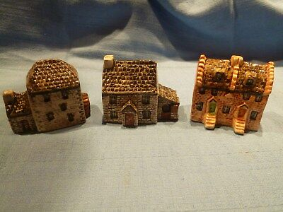Collection Of Three Britain In Miniature Tey Pottery Buildings