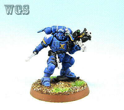 Warhammer 40K WGS painted Space Marine Lieutenant in Phobos Armour SM062