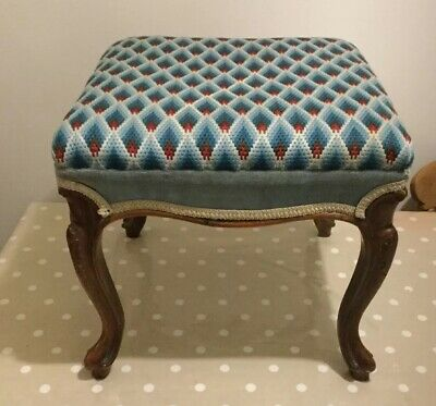 Victorian Footstool With Cabriole Legs