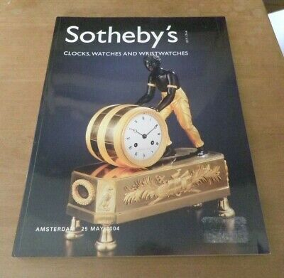 SOTHERBY'S Clocks Watches & Wristwatches Amsterdam 25 May 2004 Auction Catalog.