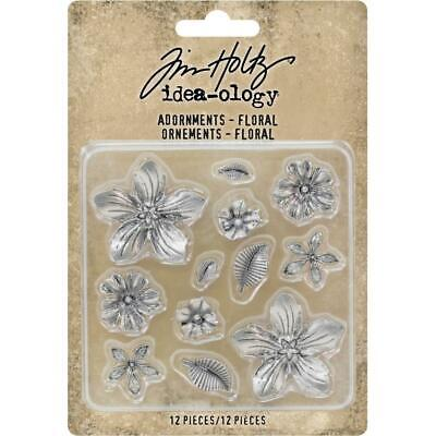 Tim Holtz Idea-Ology - Adornments Floral - 12 Pieces