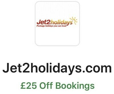 Jet2Holidays.com - £25 OFF Bookings - INSTANT CODE