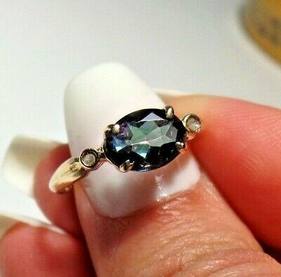Vintage Blue Sapphire Ring (tested)