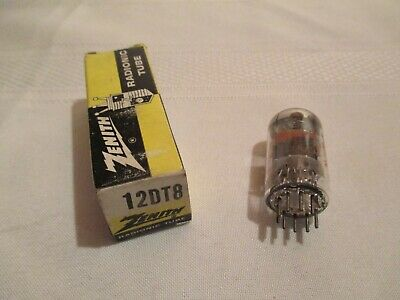 Vintage Vacuum Tube 12DT8 ZENITH NOS TESTED Twin Triode Tube Made in U.S.A.