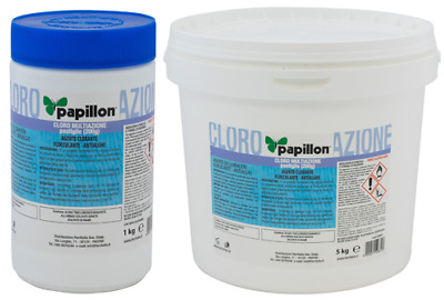 "Cloro Per Piscina In Pastiglie Combinate ""Multiazione"" Papillon"