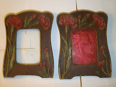Two Art Nouveau Wooden Photograph Frames  Good Condition , Some Damage