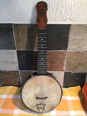 Rare Antique John Grey 4 string Dulcetta BS banjo circa 1912
