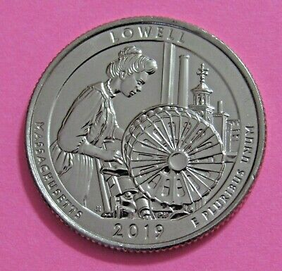 2019-D 25C Lowell Massachusetts National Parks America the Beautiful Quarter