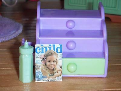 Barbie Kelly Baby Step & Store Toddler Dolls Purple fits Fisher Price Dollhouse