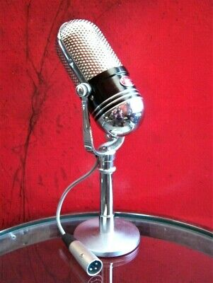 Vintage 1960's Shield M-102 crystal microphone pill Japanese old RCA w stand # 2