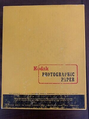 Vintage Kodak Photo Paper Double Weight Polycontrast F 8x10in 250Sheets EXP 1963