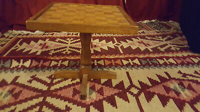 Old Wooden Chess Draughts Table