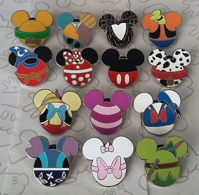 Mickey Mouse Icon Mystery Pouch Disney Characters Trading Pin Make a Set Lot