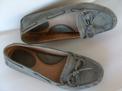 8afdf5a7d84 FRYE ~ Wo s Sz 6.5 Reagan Campus Driver Moccasins Leather Slip On Flat Shoe  Gray