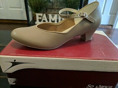 "NEW-So Danca CH02 Character Shoe w/ Suede Sole, 1.25"" Heel, Adult 5.5, 6, 6.5"