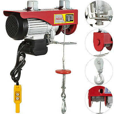 500KG Scaffold Electric Winch Lifting Hoist Engine Double-Hook Workshop