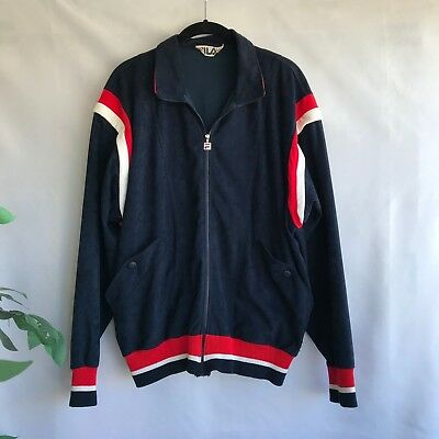 a6c78e08e7 Fila Vintage Track Jacket Size Med Mens US 40 Full Zip Italia Red White  Blue EUC