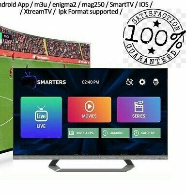 12 MONTHS IPTV app, mag, stb, smarters, subscription   Best on ebay  guaranteed