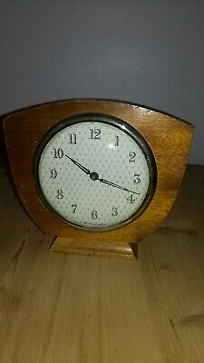 "Lovely Vintage Clock, Measuring Approximately 6"" x 6""."