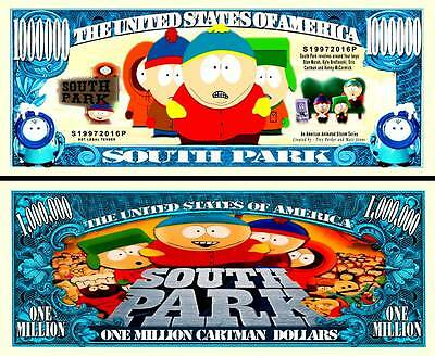 South Park Million Dollar Bill **Novelty Money** FREE Sleeve