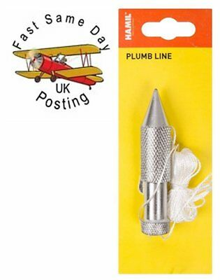 Traditional 5oz Metal Plumb Plum Bob And 15 ft 15' Line Building Decorating
