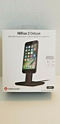 Twelve South HiRise 2 Deluxe Charging Stand for iPhone/iPad - Black NEW SEALED