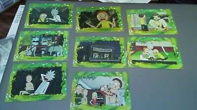 Cryptozoic Rick And Morty Season 1 Trading Cards - Set of 8 assorted base cards