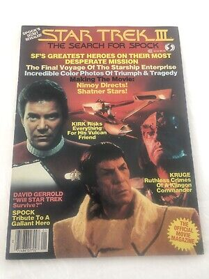 Star Trek III The Search For Spock Magazine 1984 Nimoy, Shatner, Kirk, Klingon