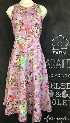 NWT $249 Belle Badgley Mischka lace overlay Pastels Dress Sz. 2 Anthropologie