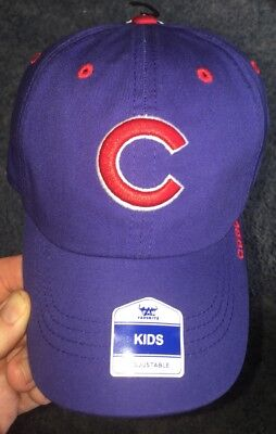 ae5ef7b6 Chicago Cubs MLB Kid's Fan Favorite Cap Blue/Red Adjustable Hat (Youth)