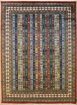 Rugstc 8x10 Senneh Chobi Ziegler Multicolored Rug,Natural dye,Hand-Knotted,Wool