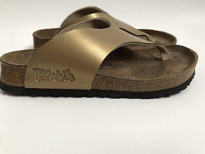 7d48acf5780 BIRKENSTOCK Birkis Gold Thong Sandals Womens Size 36 35 US 5 - 5.5 T Strap