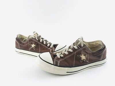 9311e9da3a42 Converse One Star Shoes Low Top Chocolate Brown Canvas Women s Sz 8.5  Rubber Toe