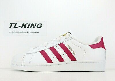 wholesale dealer 187ab 62df9 ADIDAS ORIGINALS SUPERSTAR Junior White Pink Classic Youth ...