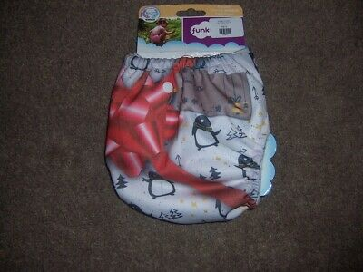 Funky Fluff that's a wrap one size bamboo cloth diaper new