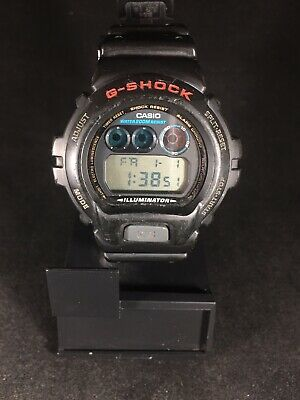 Casio Men's G-Shock Classic Digital Watch DW6900-1V Black and Red DEFECTIVE