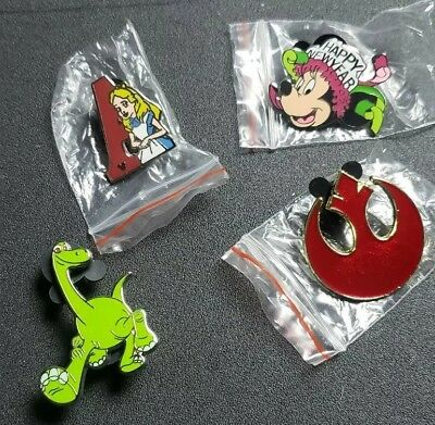 Disney Trading Pin Lot With Hidden Mickey Limited Edition New Year