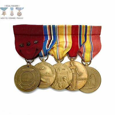 Wwii Us Navy Good Conduct Medal Group American Campaign Asiatic Pacific Victory