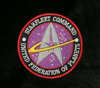 Star Trek STARFLEET COMMAND United Federation of Planets embroidered Patch New