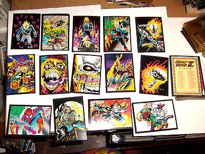 1992 Marvel Ghost Rider Series 2 Complete Base Card Set! Wolverine Spider-Man!