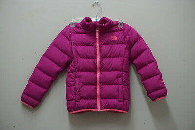 11e4b1e43 THE NORTH FACE GIRLS ANDES 550 DOWN WINTER JACKET CHQ7 Purple Pink Small  (7/8)